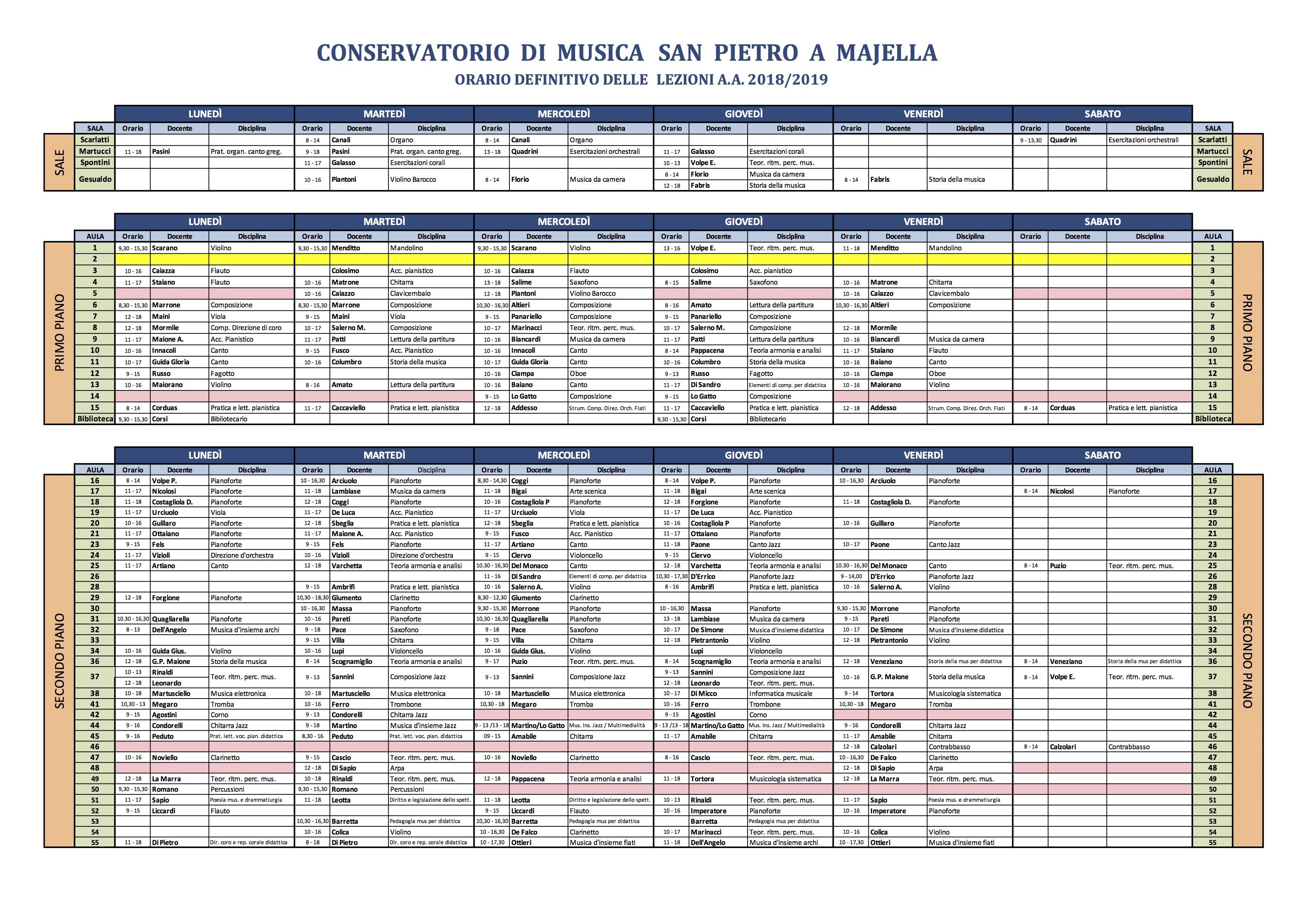 San Simone Calendario.Calendari Lezione Conservatorio Di Musica San Pietro A Majella